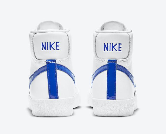 耐克开拓者渐变镂空钩 Nike Blazer Mid 耐克白蓝高帮板鞋新品上架 货号:DD9685-100-潮流者之家