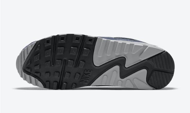 """耐克MAX90海军蓝配色 Nike Air Max 90 PRM """"Obsidian"""" 全新耐克MAX90灰蓝麂皮 货号:DA1641-400-潮流者之家"""