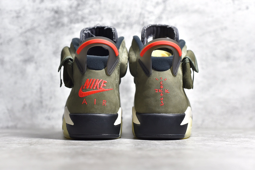AJ6 TS联名AJ6绿口袋 Travis Scott x Air Jordan6 AJ6橄榄色实战篮球鞋军事风 货号:CN1084-200-潮流者之家