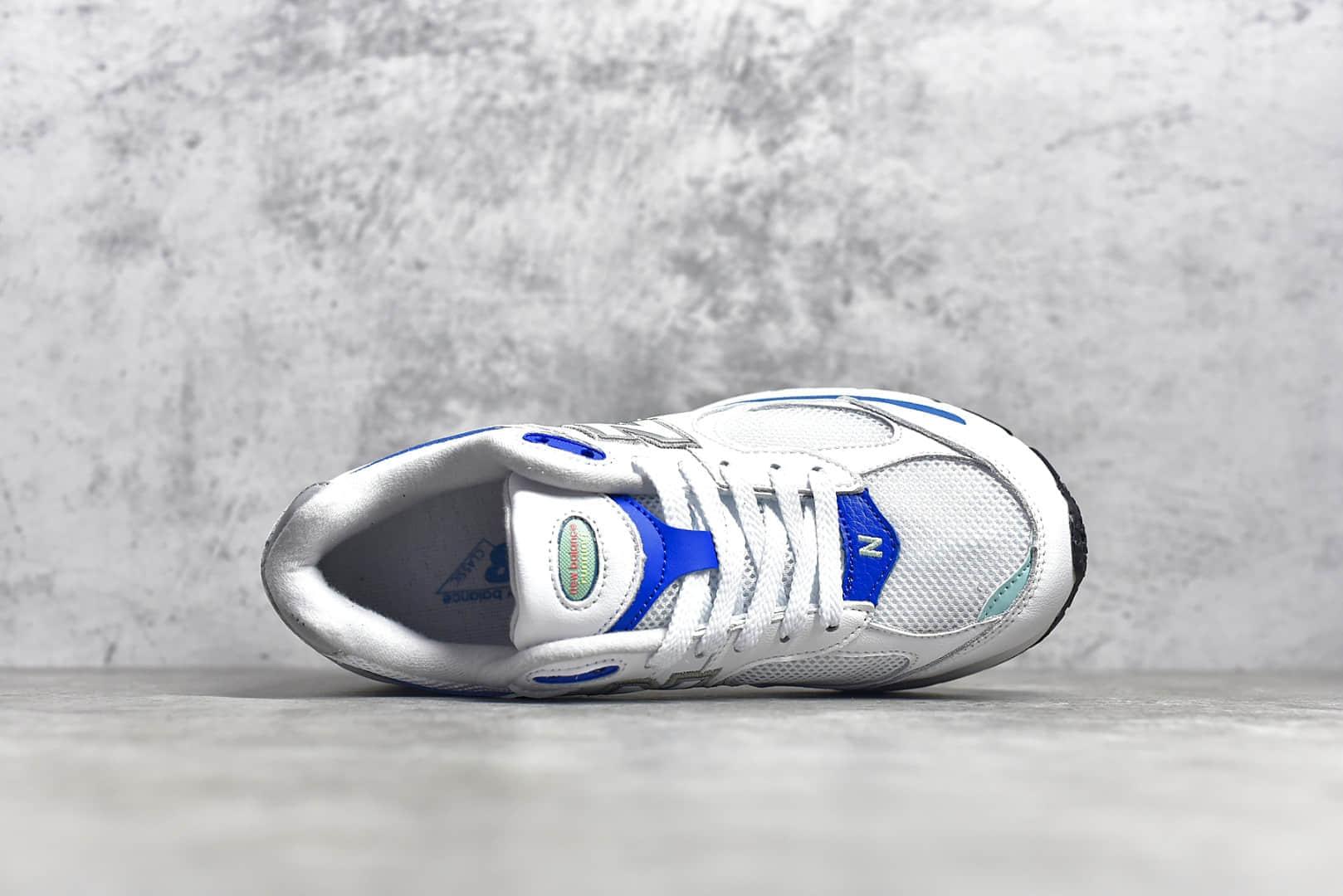 新百伦2002白蓝色慢跑鞋缓震性能 New Balance WL2002 NB复古休闲跑步鞋 货号:ML2002RW-潮流者之家