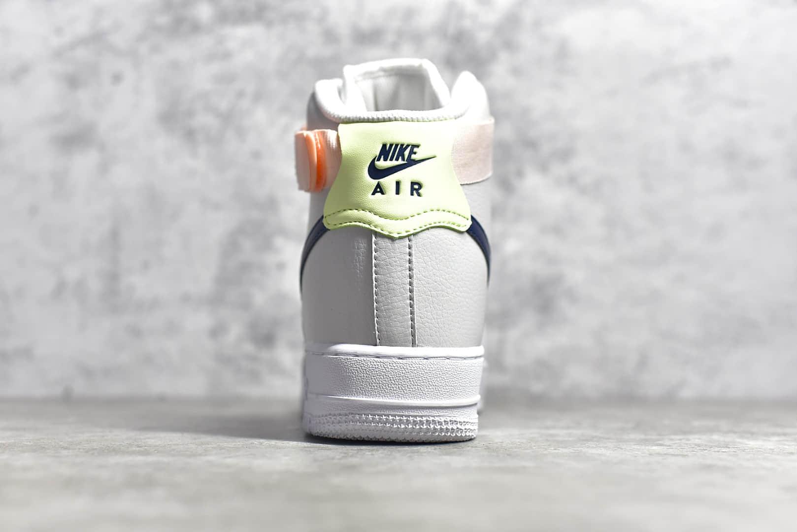 耐克空军白色鞋面深蓝色钩高帮 NIKE Air Force 1 High 耐克空军一号工厂 货号:334031-117-潮流者之家
