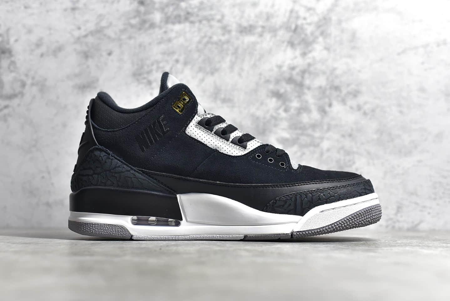 AJ3黑水泥反光实战球鞋 Air Jordan 3 Retro Tinker 银灰 3M 反光鞋舌原厂AJ3复古球鞋 货号:CK4348-007-潮流者之家