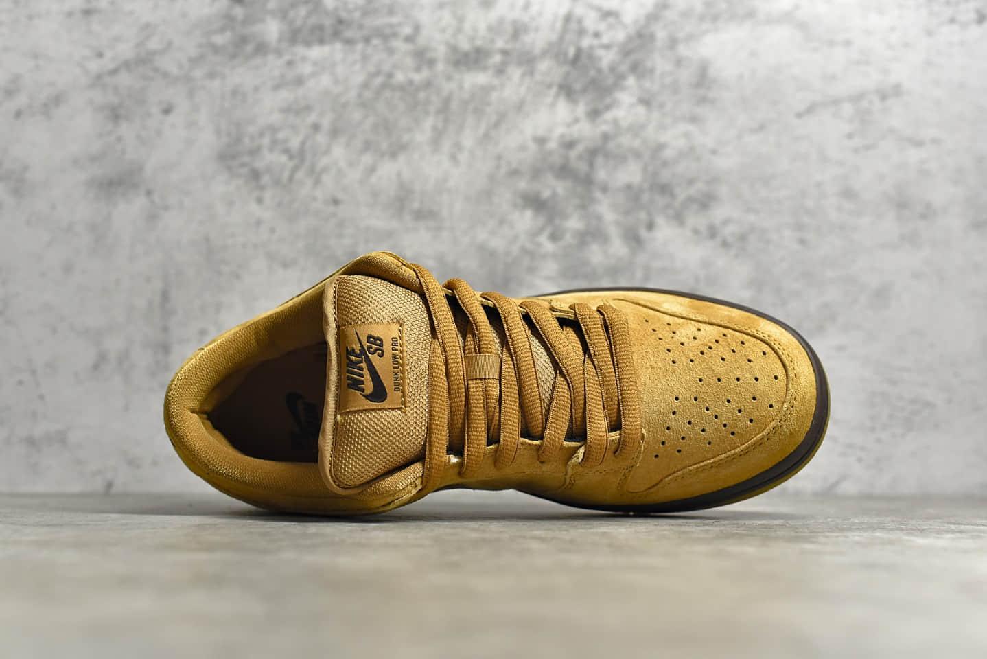 耐克Dunk SB小麦低帮板鞋 NIKE SB Dunk Low Pro 纯原版本耐克小麦麂皮板鞋 货号:BQ6817-204-潮流者之家