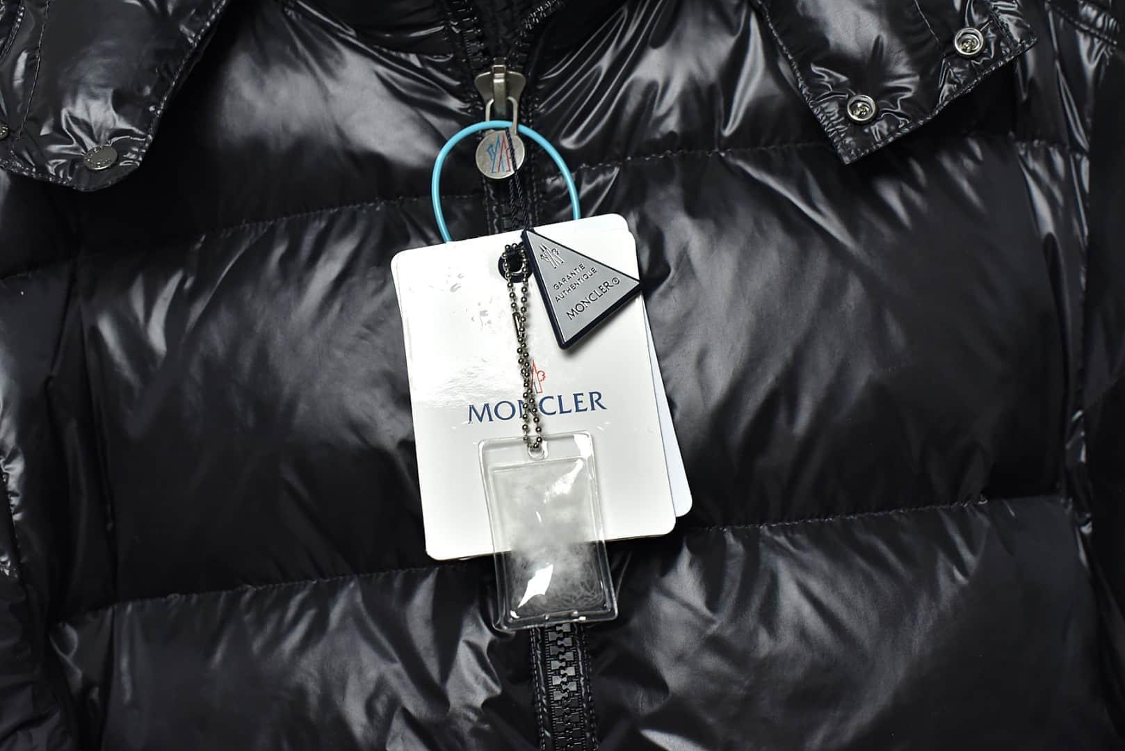 陈奕迅同款羽绒服 蒙口黑色羽绒服陈奕迅同款 Moncler蒙口 莆田蒙口顶级复刻一比一还原正品-潮流者之家
