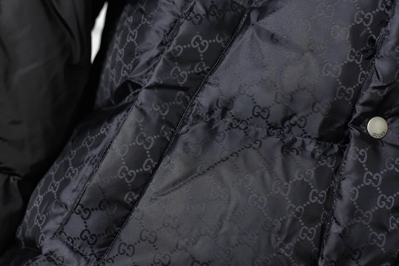 古驰莞产品质顶级复刻羽绒服 GUCCI古驰20Fw反光G条纹羽绒服 GUCCI面料客订同规格功能性面料-潮流者之家