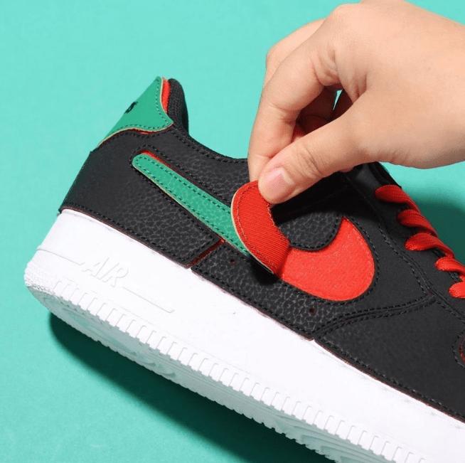耐克空军撕撕乐黑色 Nike Air Force 1/1 空军一号撕撕乐DIY配送鞋带 货号:DD2429-001-潮流者之家