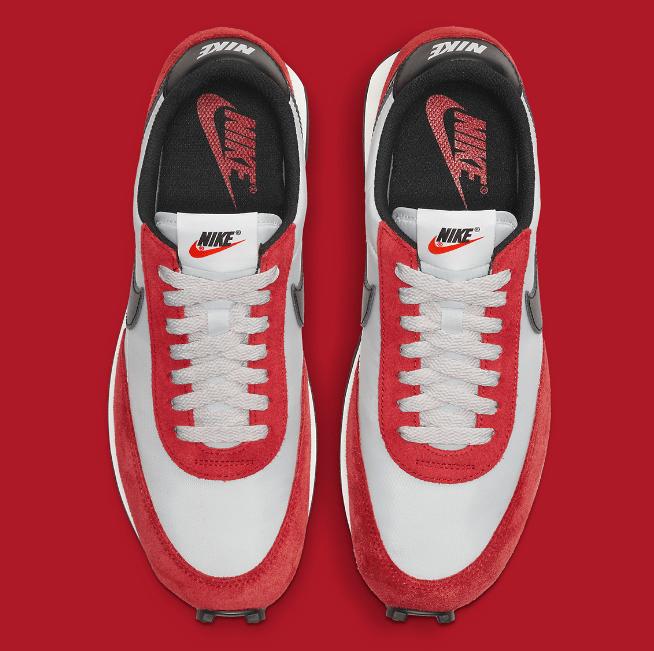 耐克华夫芝加哥配色 Nike Daybreak 耐克白红经典复古跑鞋即将发售 货号:DB4635-001-潮流者之家