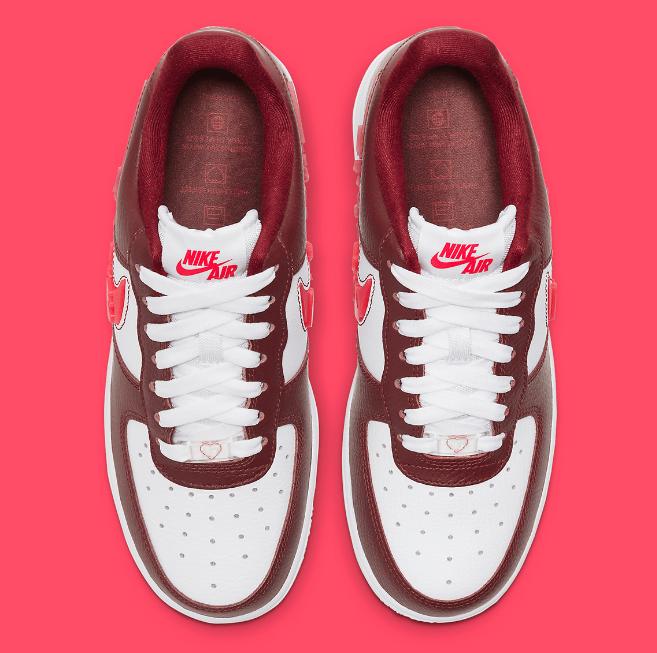 耐克空军一号情人节限定 Nike Air Force 1 Love For All 耐克2021年情人节限定发售日期 货号:CV8482-600-潮流者之家