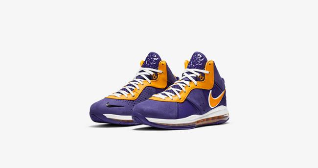 """耐克詹姆斯8代湖人配色 Nike LeBron 8 """"Purple"""" 詹姆斯紫金实战球鞋SNKRS上架 货号:DC8380-500-潮流者之家"""