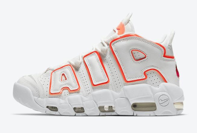 """耐克皮蓬白橙新配色发售 Nike Air More Uptempo """"Sunset"""" 经典耐克大AIR实战篮球鞋 货号:DH4968-100-潮流者之家"""