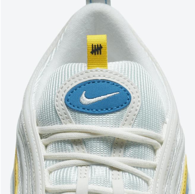 """耐克MAX97子弹联名款 UNDEFEATED x Nike Air Max 97 """"White"""" 第三款子弹UNDEFEATED联名白色 货号:DC4830-100-潮流者之家"""