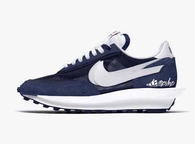 耐克Sacai藤原浩三方联名发售日期 fragment x sacai x Nike LDWaffle 耐克华夫闪电联名双勾解构鞋 货号:DH2684-40-潮流者之家