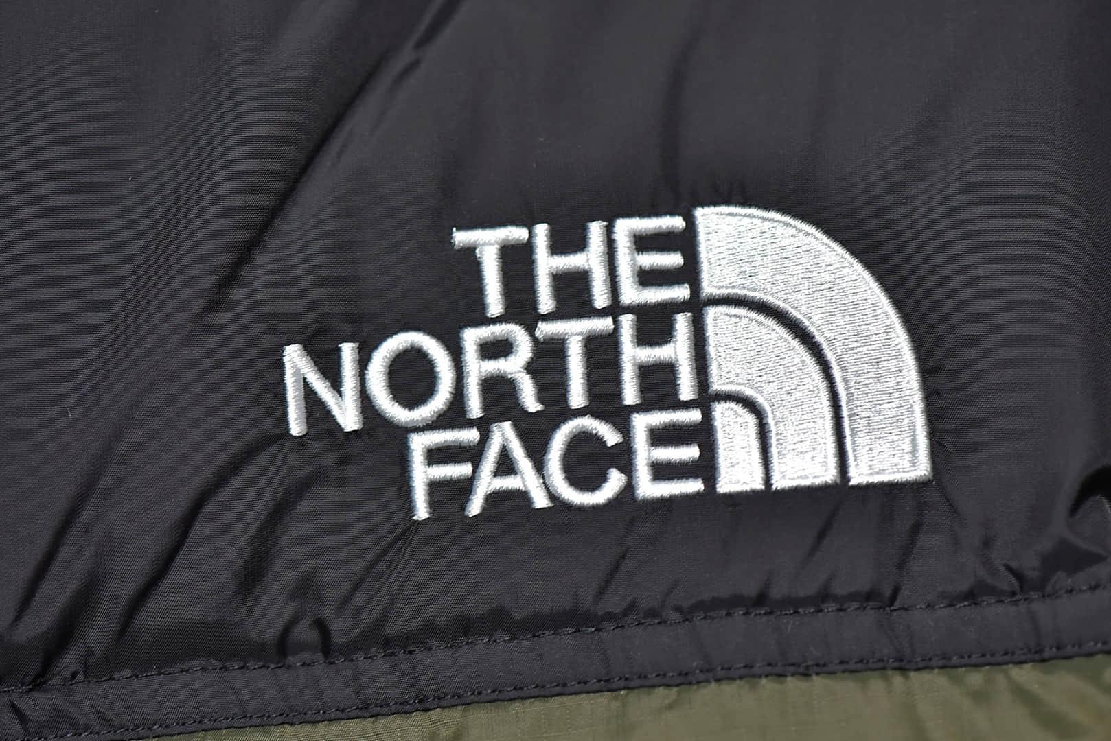 北面羽绒服黑绿配色 The North Face 19Fw 1996 Nuptse 莆田顶级北面羽绒服正品复刻新国际标准80白鸭绒-潮流者之家