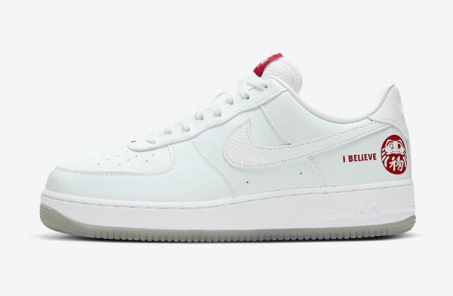 """耐克空军达摩刮刮乐 Nike Air Force 1 Low """"I Believe Daruma"""" 耐克空军中国年限定 货号:DD9941-100-潮流者之家"""