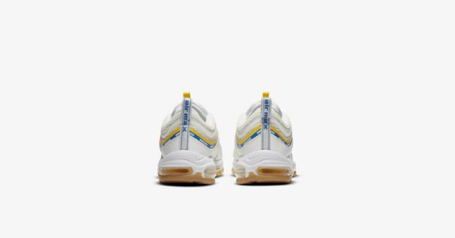 """耐克子弹气垫跑鞋联名款白色 UNDEFEATED x Nike Air Max 97 """"White""""明早发售 货号:DC4830-100-潮流者之家"""