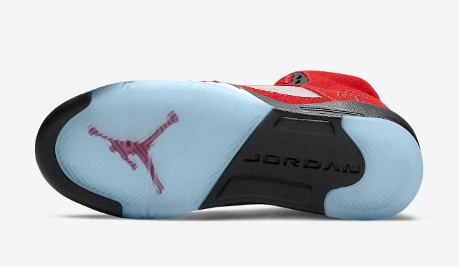 "AJ5愤怒的公牛官图曝光 Air Jordan 5 ""Raging Bull"" 经典AJ5红色麂皮装扮复刻 货号:DD0587-600-潮流者之家"