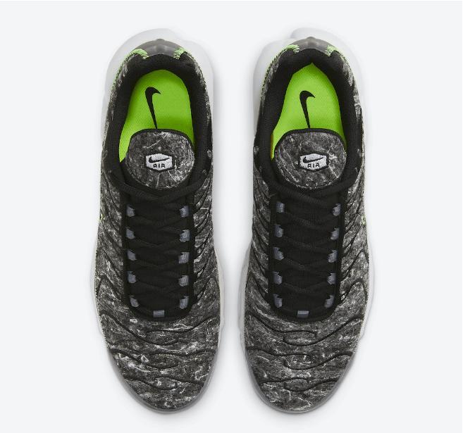 """耐克AIR MAX PLUS再生羊毛材料 Nike Air Max Plus Essential """"Crater"""" 全新耐克复古气垫跑鞋 货号:DA9326-001-潮流者之家"""
