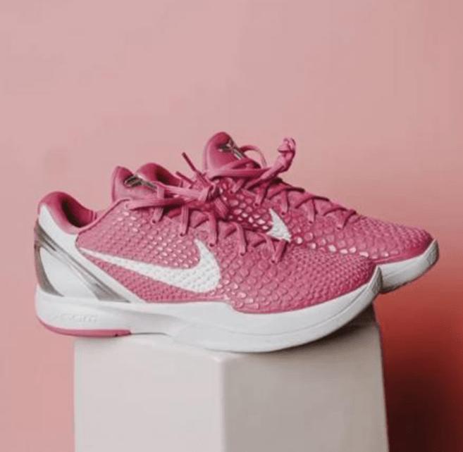 """耐克科比六代球鞋乳腺癌主题 Nike Kobe 6 Protro """"Think Pink"""" 新款科比球鞋粉色球鞋 货号:CW2190-001-潮流者之家"""