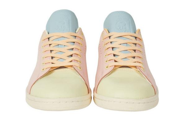 阿迪达斯史密斯联名款板鞋 Palace x adidas后天发售 Palace x adidas Stan Smith阿迪达斯粉色板鞋-潮流者之家