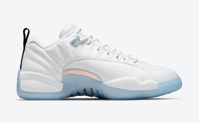 """AJ12复活节白蓝官图 Air Jordan 12 Low """"Easter"""" 耐克复活节主题球鞋 AJ12白蓝低帮球鞋 货号:DB0733-190-潮流者之家"""