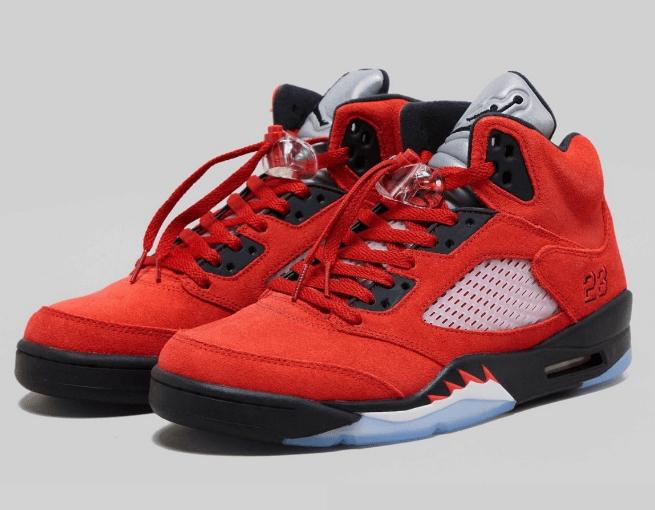 """AJ5愤怒的公牛 2021必抢球鞋 Air Jordan 5 """"Raging Bull"""" 全新AJ5红黑实战篮球鞋 货号:DD0587-600-潮流者之家"""