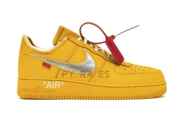 """耐克空军OW联名黄色 OFF-WHITE x Nike Air Force 1 """"University Gold"""" 全新耐克空军黄金配色 货号:DD1876-700-潮流者之家"""