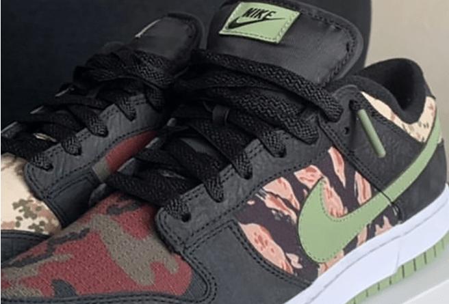 """耐克Dunk迷彩鸳鸯配色新款 Nike Dunk Low SE """"Oil Green"""" 耐克Dunk迷彩滑板鞋 货号:DH0957-001-潮流者之家"""