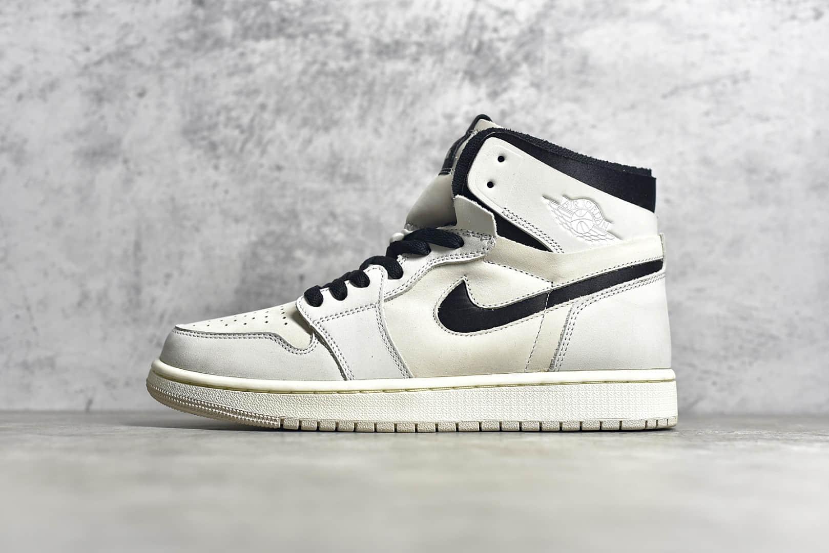 """AJ1珍珠奶茶女生专属版本 Air Jordan 1 Zoom Air CMFT""""Summit White"""" 纯原版本AJ1米白高帮 货号:CT0979-100-潮流者之家"""