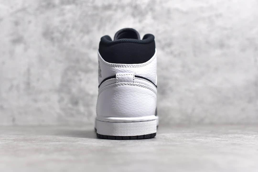AJ1黑白熊猫中帮纯原版本 Air Jordan 1 AJ1熊猫中帮细节图 货号:554724-113-潮流者之家