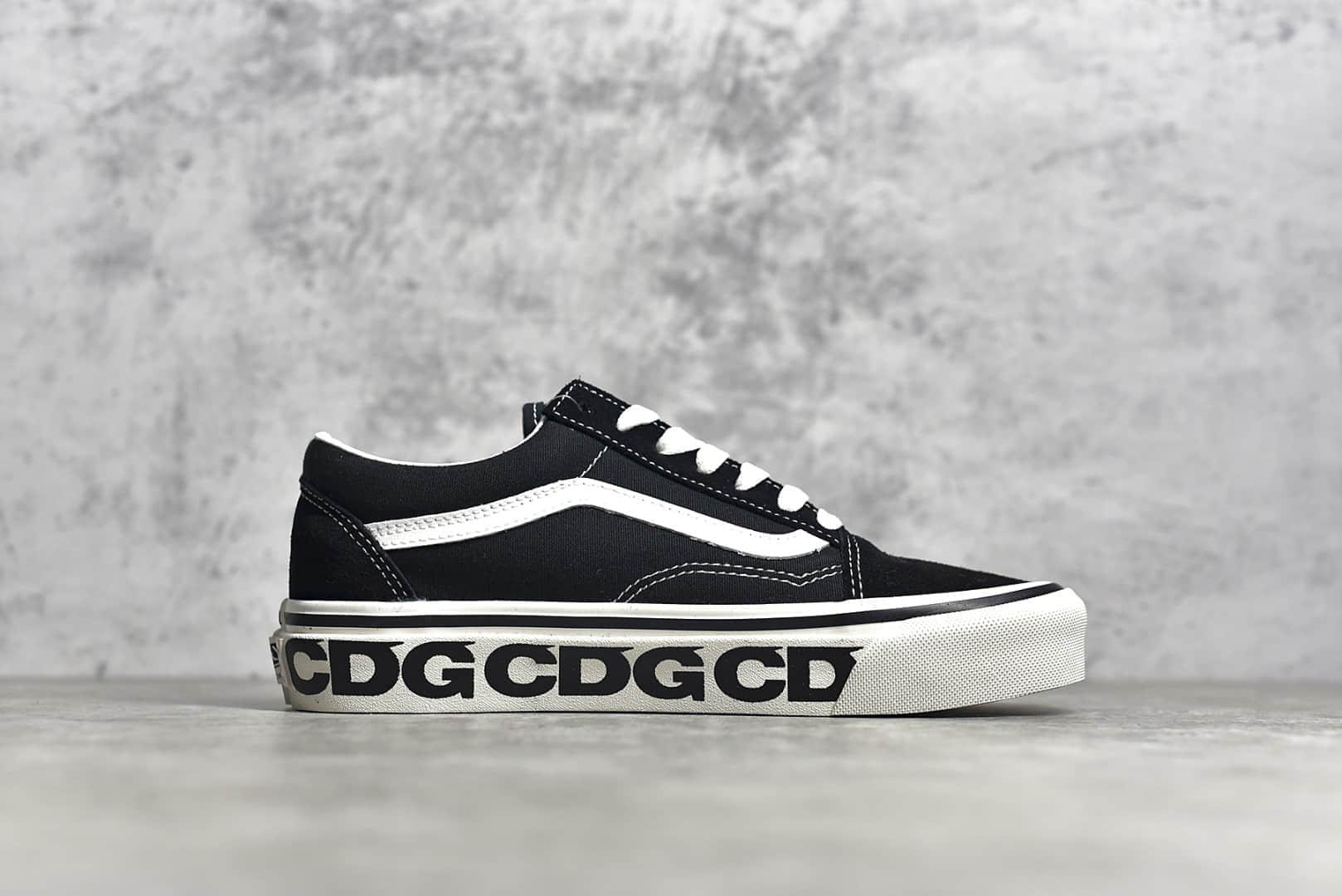 万斯CDG联名黑色低帮 CDG x VANS 新款联名 万斯硫化鞋 万斯帆布鞋-潮流者之家