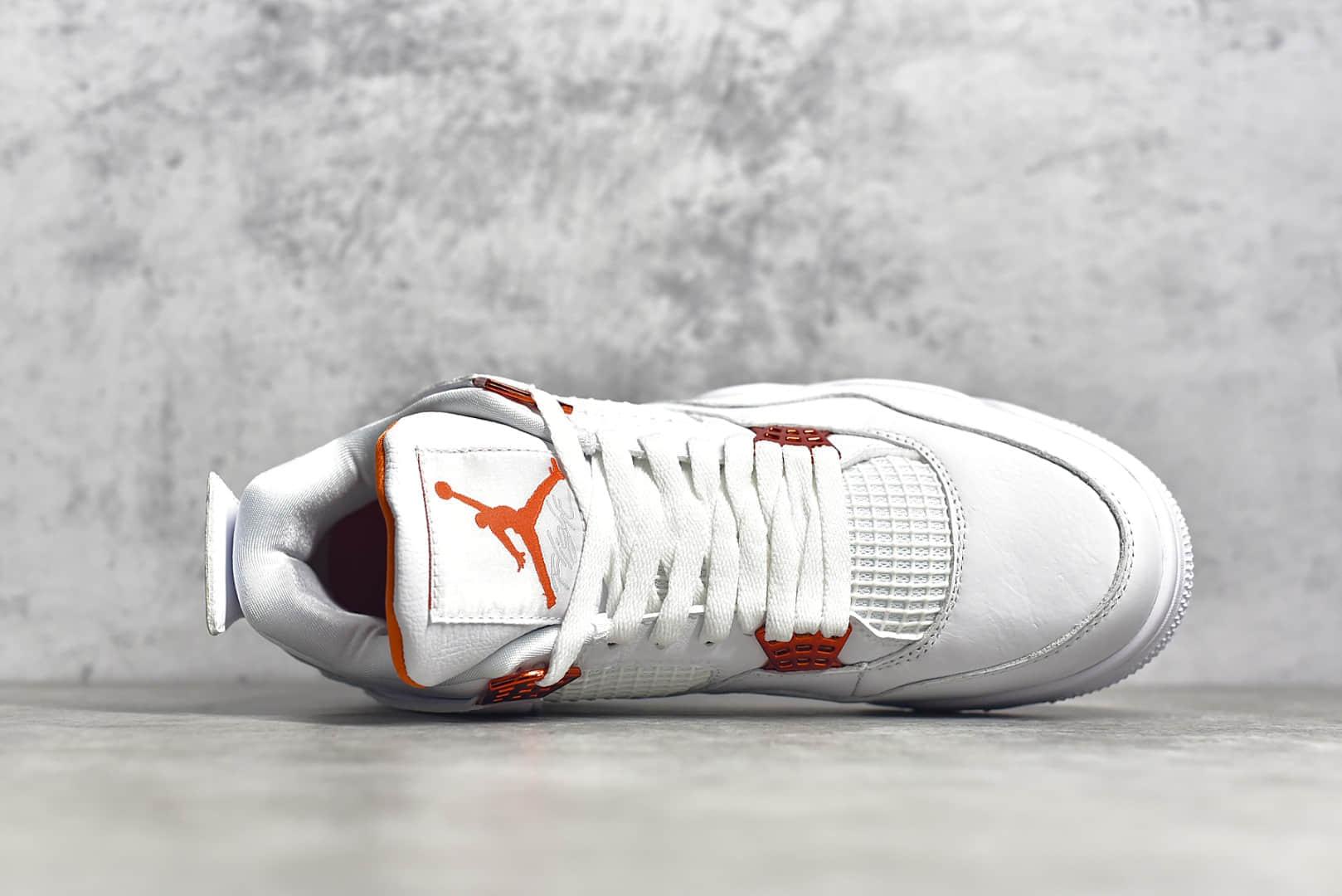 AJ4白橙高帮实战球鞋 Air Jordan 4 RETRO SE 金属橙 莆田最高版本AJ 货号:CT8527-113-潮流者之家