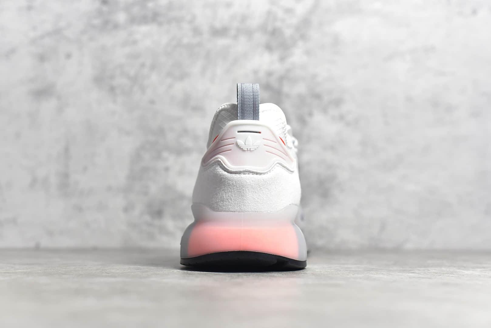 公司级巴斯夫真爆阿迪达ZX2K Adidas Originals ZX 2K Boost 真爆米花缓震阿迪达斯休闲跑鞋 货号:FX7028-潮流者之家