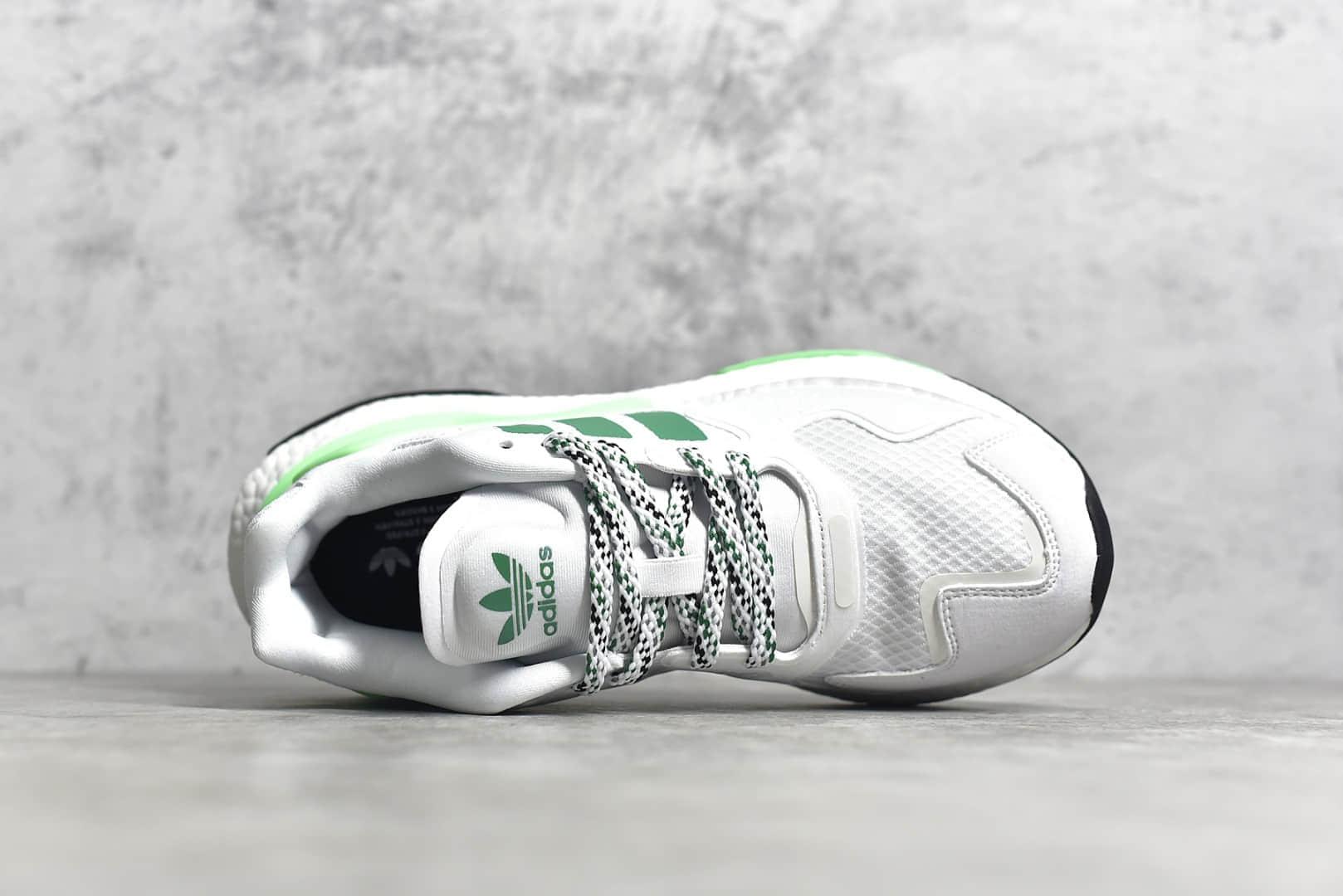 阿迪达斯夜行者二代白绿色跑鞋 adidas Day Jogger 莆田原厂原盒原标阿迪达斯工厂 货号:FW4848-潮流者之家