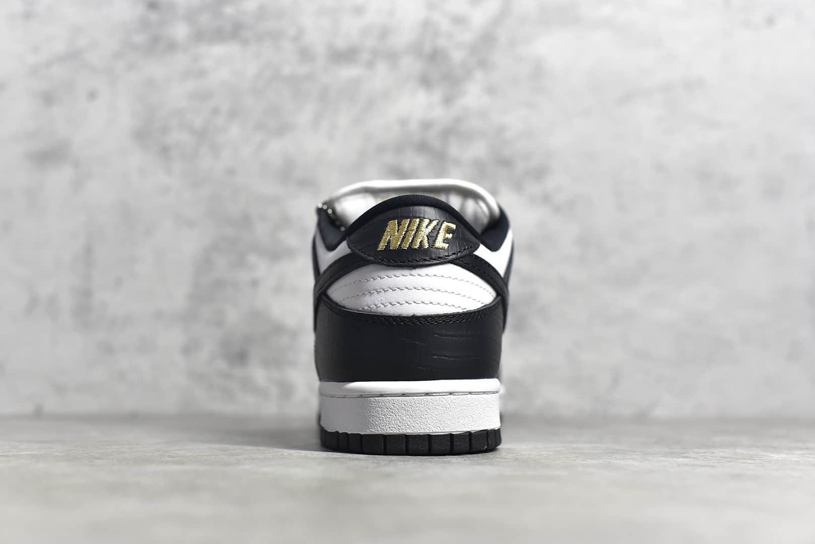 耐克Dunk SB SUP联名白金黑低帮 Supreme x Nike SB DunkLow
