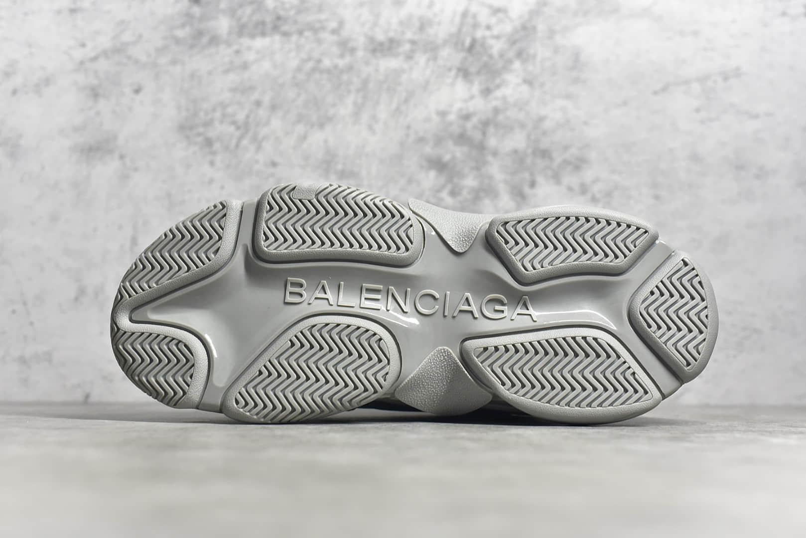 巴黎世家复古灰色老爹鞋 莆田意产版本巴黎世家工厂 巴黎世家代工厂 巴黎世家代购版本-潮流者之家