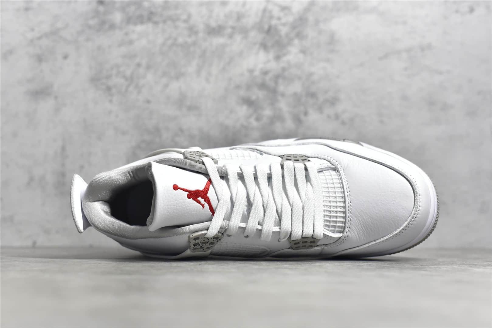 """AJ4白奥利奥新款发售 莆田AJ4原厂复刻纯原版本 Air Jordan 4 """"White Oreo"""" AJ4奥利奥 货号:CT8527-100-潮流者之家"""