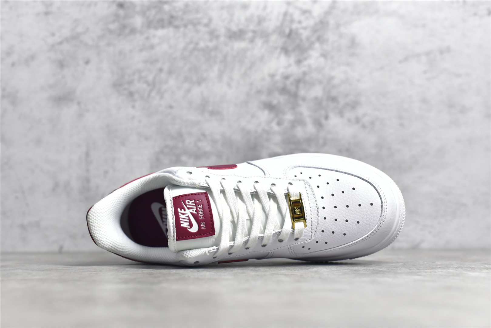 耐克空军白色鞋面酒红勾 Nike Air Force 1 '07 空军白红低帮 CJ纯原版本顶级版本空军复刻 货号:315115-154-潮流者之家