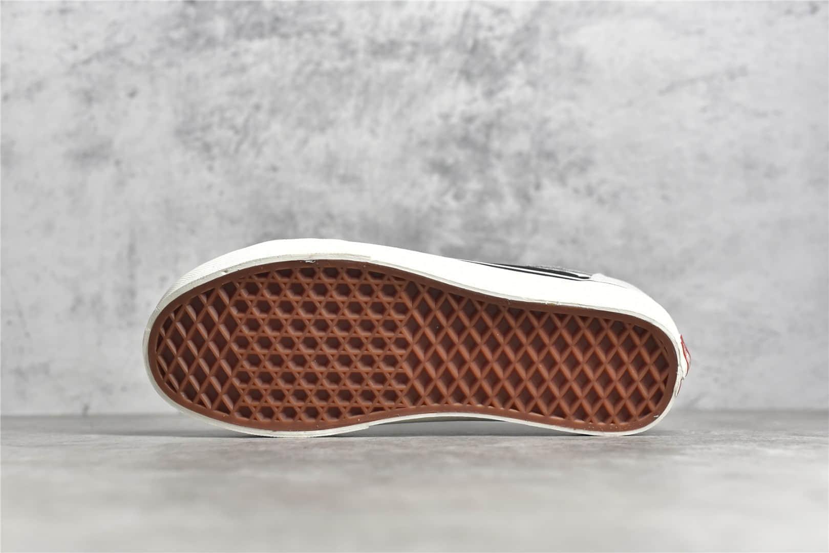 万斯黑白奶牛GD同款 Vans Style 36 Decon SF 万斯权志龙同款海外限定 万斯半月包头硫化低帮帆布鞋-潮流者之家