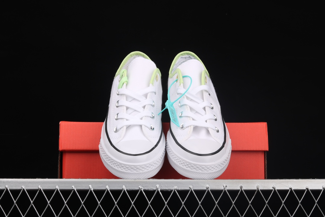 匡威马卡龙鸳鸯拼接帆布鞋 Converse Chunk 70s匡威材料拼接低帮帆布鞋 货号:171181C-潮流者之家