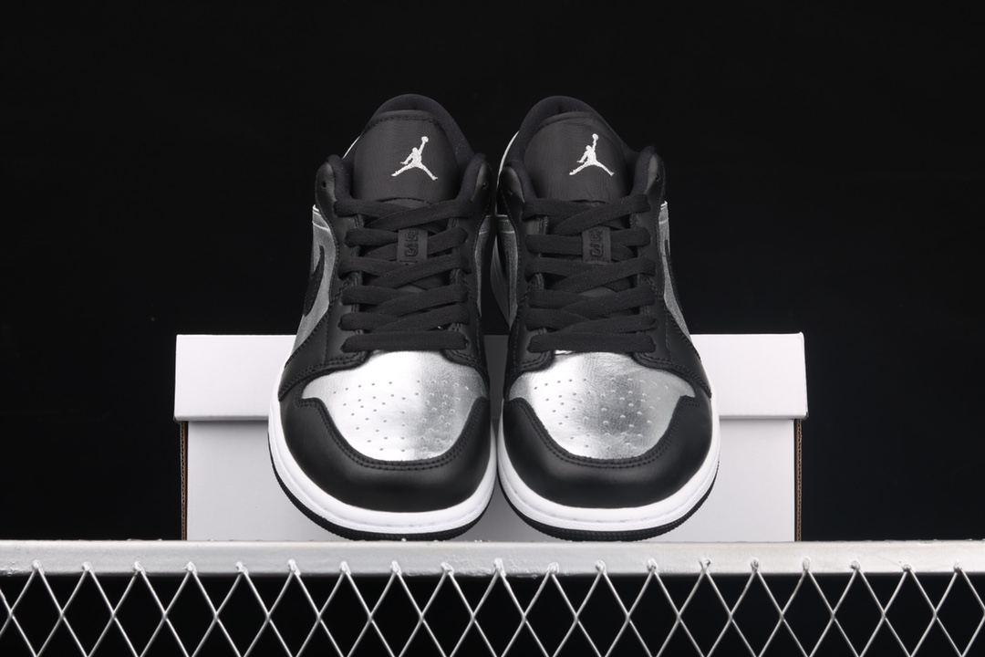 AJ1黑银低帮纯原版本 Air Jordan 1 Low 莆田顶级AJ货源 AJ1黑色低帮 货号:DA5551-001-潮流者之家