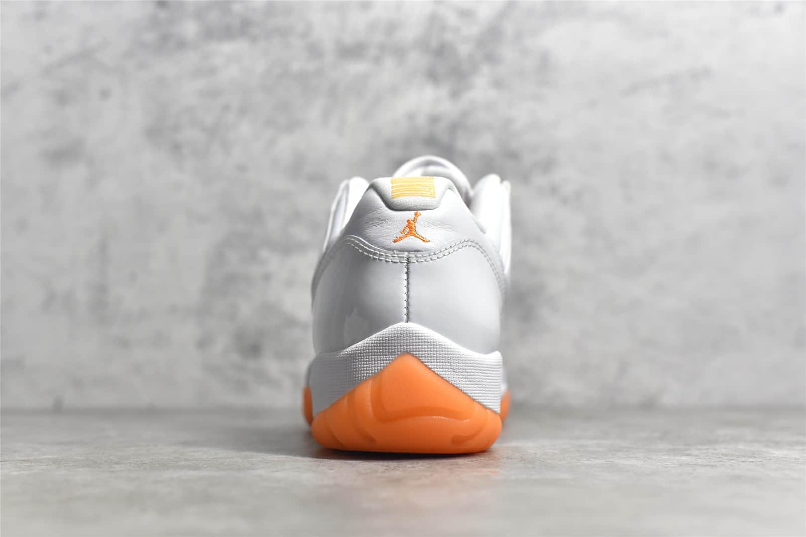 "AJ11白橙低帮篮球鞋 Air Jordan 11 Retro Low ""Bright citrus""白橙 H12纯原AJ新款白橙 货号:AH7860-139-潮流者之家"