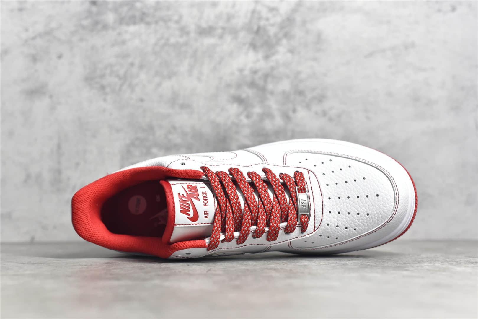 耐克空军一号白红低帮 Nike Air Force 1 SU19 空军一号3M反光低帮 货号:CN2896-101-潮流者之家