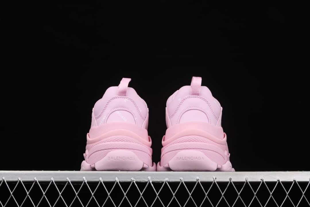 巴黎世家粉色老爹鞋 意产纯原版本八十家老爹鞋 Balenciaga Triple S 巴黎世家复古老爹鞋 货号:W2FA15090-潮流者之家