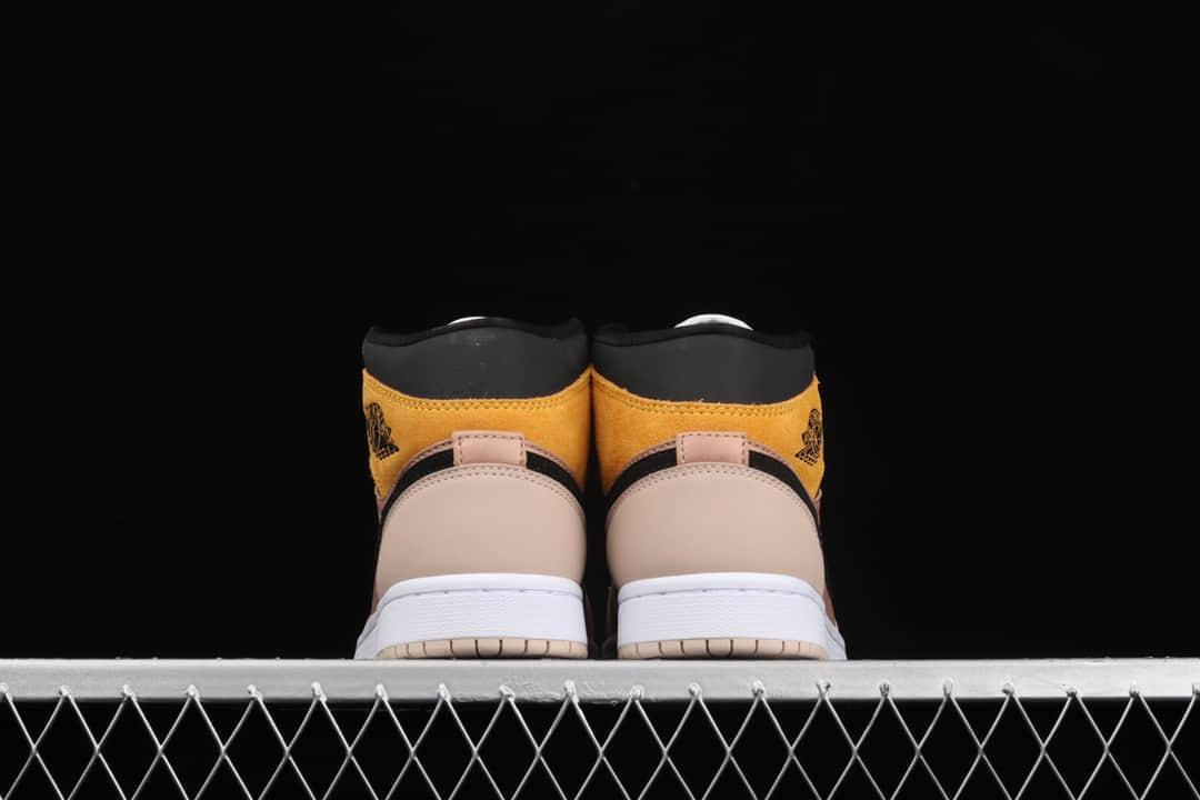 AJ1奶茶橘中帮 Air Jordan 1 Mid AJ1奶茶橘 纯原版本顶级版本AJ1中帮 货号:DD2224-200-潮流者之家