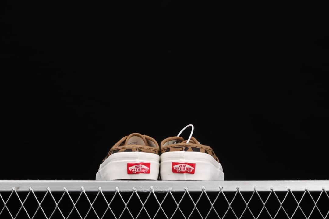 万斯豹纹懒人拖鞋 Vans Authentic 纯原版本万斯原厂硫化 万斯豹纹原厂进口材料 货号:VN0A54F76BW-潮流者之家