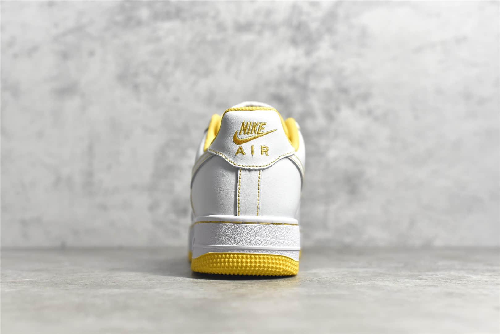 耐克空军白黄低帮 Nike Air Force 1 Low 纯原版本空军渠道 耐克空军原厂进口材料 货号:CV1724-102-潮流者之家