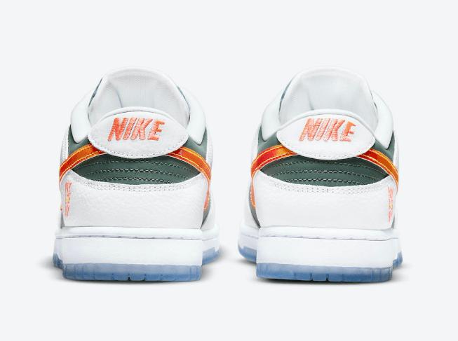 """耐克Dunk纽约配色 Nike Dunk Low """"NY vs NY"""" 耐克Dunk绿白橙色钩低帮 货号:DN2489-300-潮流者之家"""