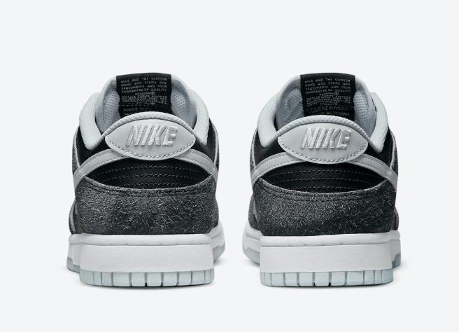 """耐克Dunk黑灰低帮 Nike Dunk Low """"Animal Pack"""" 耐克Dunk奥利奥翻毛皮加皮革鞋身 货号:DH7913-001-潮流者之家"""