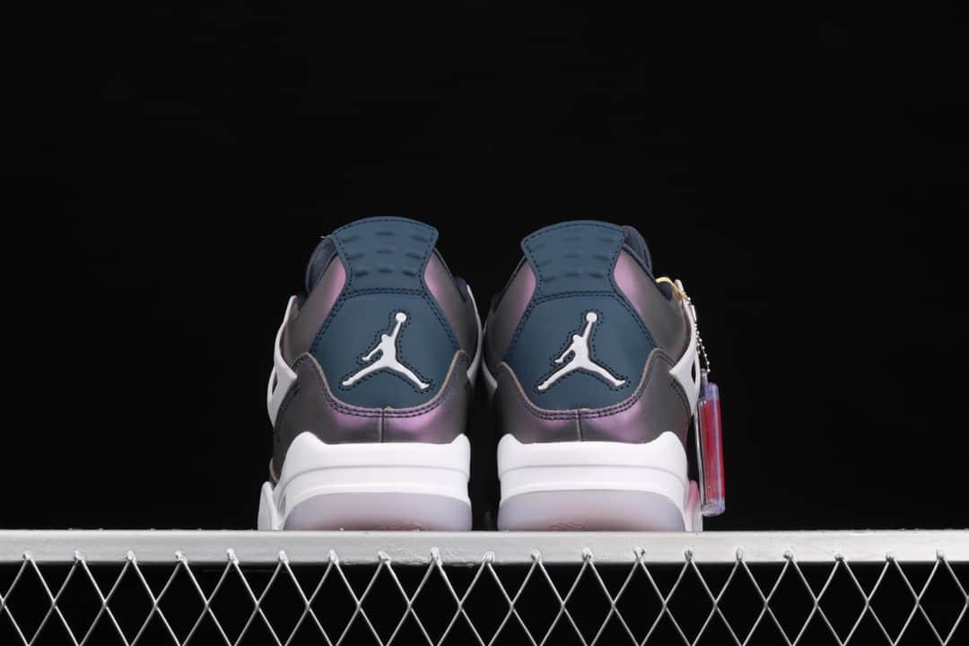 "AJ4电光紫变色龙纯原版本 Air Jordan 4 RETRO""Monsoon Blue"" AJ4纯原供应 AJ4变色龙 AJ4紫色 货号:BQ9043-400-潮流者之家"