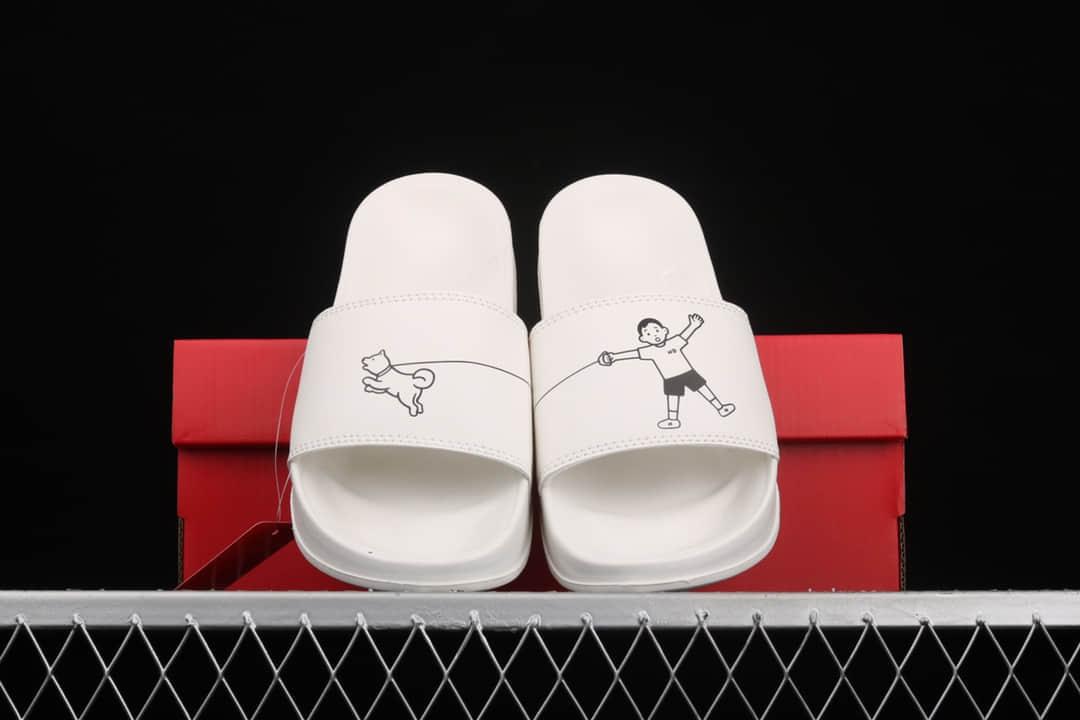 新百伦联名款拖鞋 NB白色拖鞋 New Balance x Noritake 新百伦卡通拖鞋 货号:SMF200NW-潮流者之家